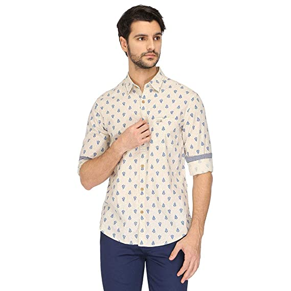 4e274eb5b US Polo Men's Printed Slim Fit Casual Shirt: Amazon.in: Clothing &  Accessories