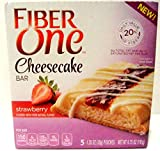 Fiber One, NEW CHEESECAKE BARS! STRAWBERRY, 5 Bars Per Box (1 Box)