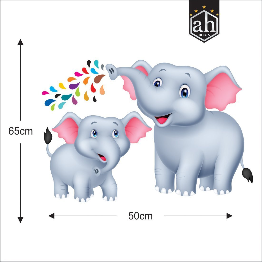- Buy AH Decals Animated 3D Jungle Safari Elephant Cartoon Wall