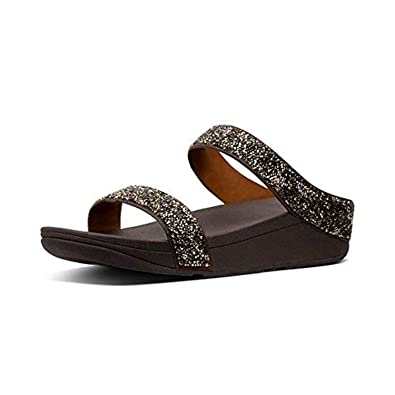 23ea78445 FitFlop Women s Fino Microfiber Slide Sandals Gold 5