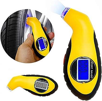 Manómetro Digital para Neumáticos, Medidor Digital de presión de ...