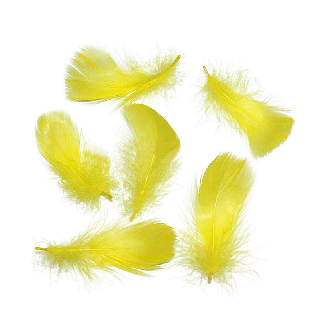 Piume di Oca Naturale 8-12 cm /3.14-4.72 Pollici Tinte Colorate Fare Vari DIY Artigianati con Queste Piume Belle, Champagne 100Pcs Topfele