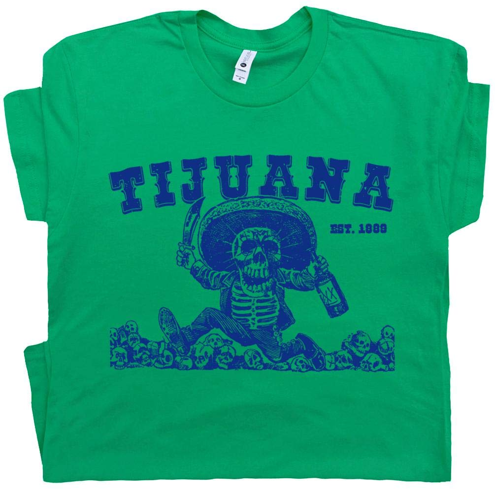 Tijuana Mexico T Shirts The Hangover Jose Tequila Worm Mezcal Party Mexican Skeletons Grap