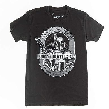 adec9dac75569 Amazon.com  Boba Fett Shirt Bounty Hunters Ale Star Wars Beer Shirt ...