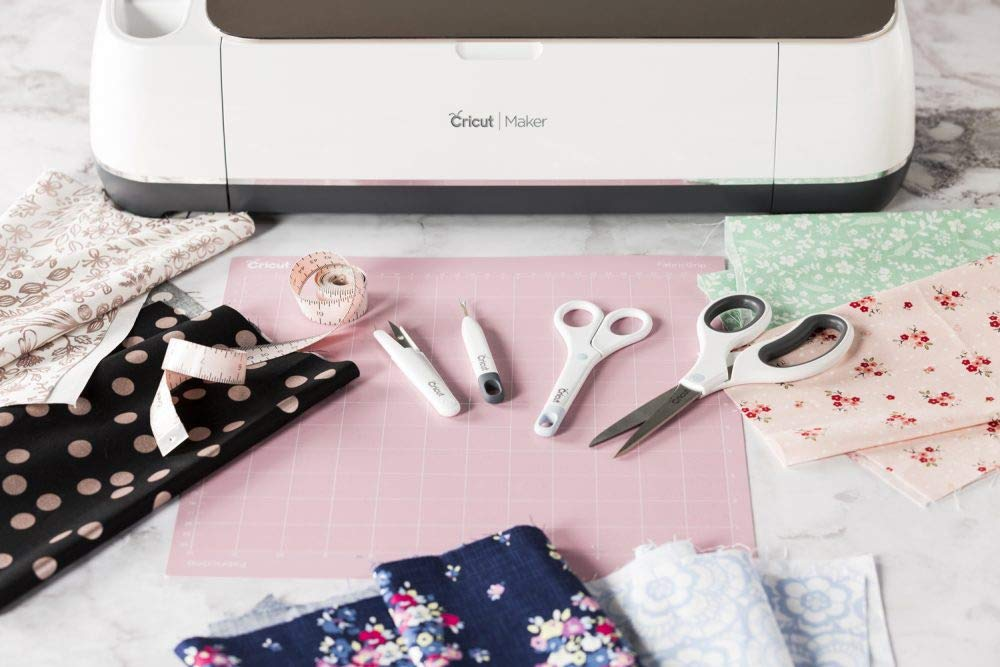 Cricut Maker Sewing Accessories Bundle Fabric Mats, Sewing Kit, Rotary Cutter, Beginner Guide by Cricut