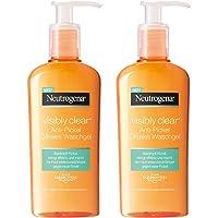 Neutrogena Visibly Clear Anti-Pickel Ölfreies Waschgel – Reinigendes Waschgel für das Gesicht zur Vorbeugung von Unreinheiten & Mitessern – 2 x 200ml