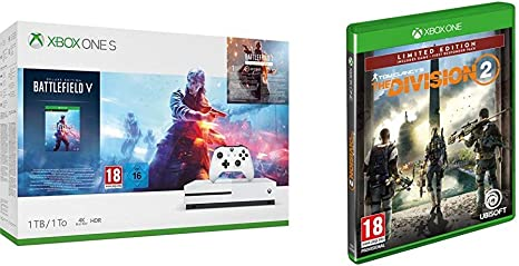 Microsoft Xbox One S - Consola 1 TB + Battlefield V + The Division 2 (Edición Exclusiva Amazon): Amazon.es: Videojuegos