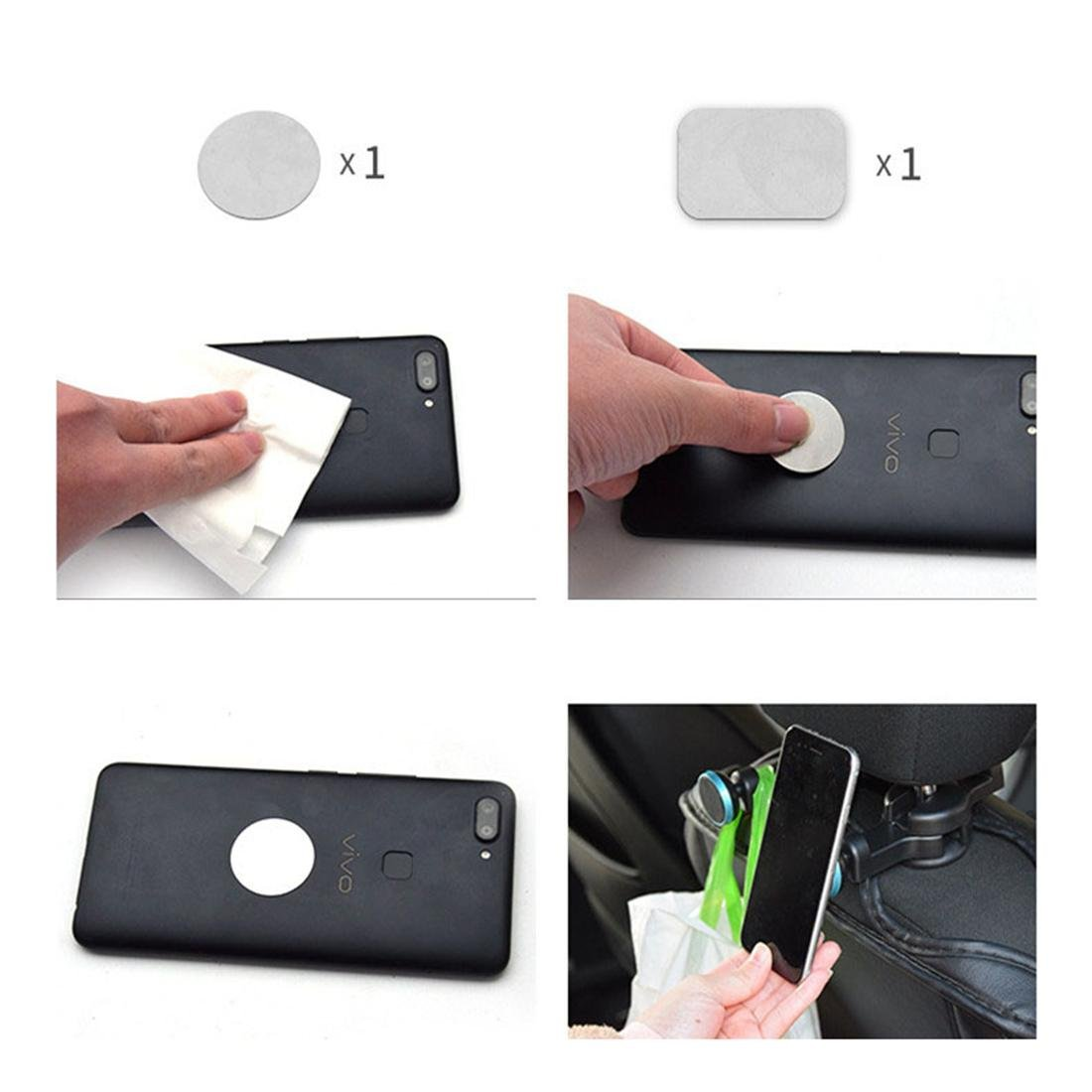 Auto Reposacabezas Montar Magnético Teléfono iPad Poseedor Coche SUV Asiento trasero Bolso Percha Gancho Universal Tableta Organizador , Blue: Amazon.es: ...