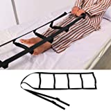 FunCee Bed Ladder Assist Strap with 5 Hand Grips, Pull Up&Sit Up Handle Rope Ladder, Caddie Helper for Elderly, Senior, Injur