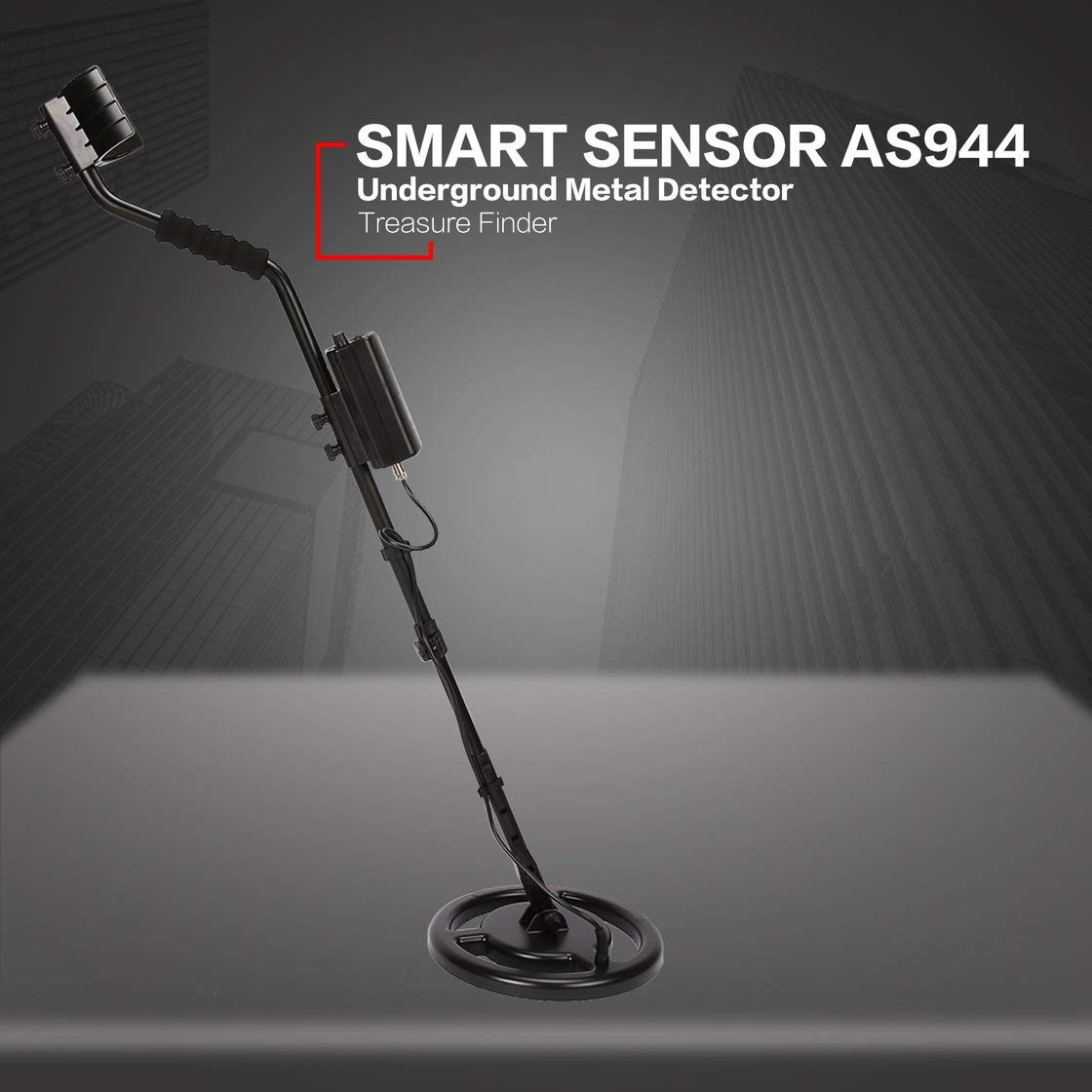 SMART SENSOR AS944 Detector de metales subterráneo profesional Buscador de plata dorado ajustable Treasure Hunter Tracker Profundidad 3m: Amazon.es: ...