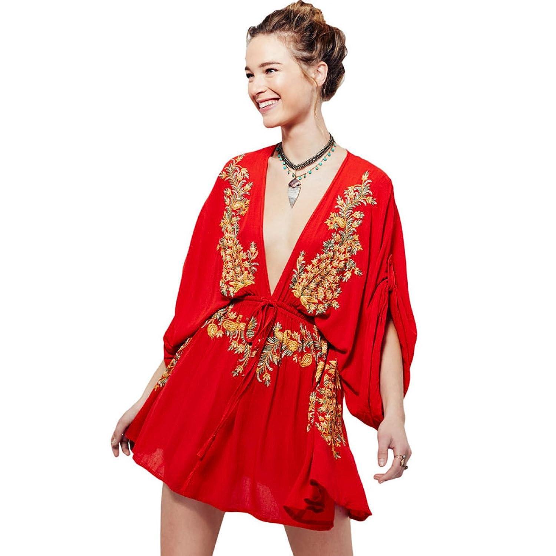 2er-Pack Sommer Damen Sexy Hüftgurte Strandkleid Zwei Farbvarianten
