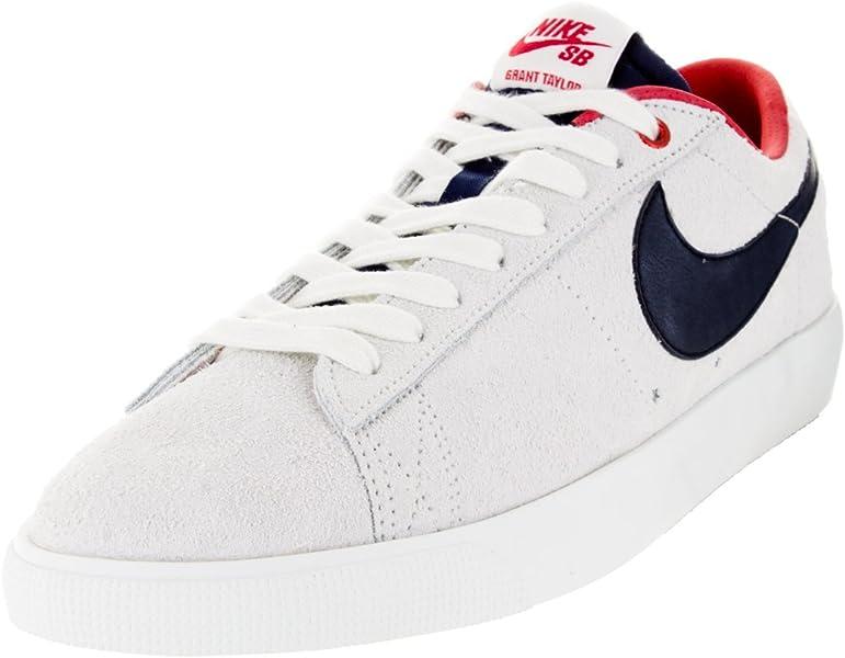 half off 937f3 044bd Nike Blazer Low GT, Zapatillas de Skateboarding para Hombre, Blanco  Negro Rojo