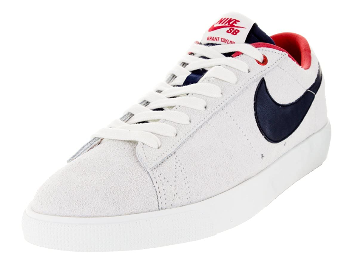 los angeles 9827d 4a93f Amazon.com   NIKE SB Blazer Low GT Summit White Obsidian University Red  (10.5)   Skateboarding
