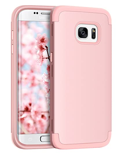 the latest 38a0b 1f462 S7 Edge Case, Galaxy S7 Edge Case, BENTOBEN 3 Layers Hybrid Heavy Duty  Shockproof Hard PC Cover Soft Silicone Rubber Bumper Full Body Protective  Phone ...