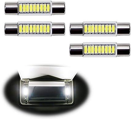 Sun visor  LED light Bulbs for Honda CR-V CRV 4 Pcs Xenon White Vanity