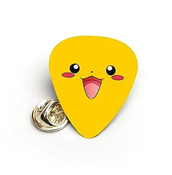 Pikachu Pokemon púa de guitarra púa Pinbadge Tie Tac Pin Badge: Amazon.es: Instrumentos musicales