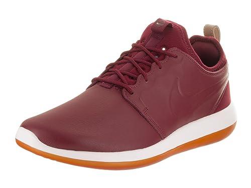 e4d78c46c991 Nike Men s Roshe Two Leather Prm Team Red Team Red White Running Shoe 9
