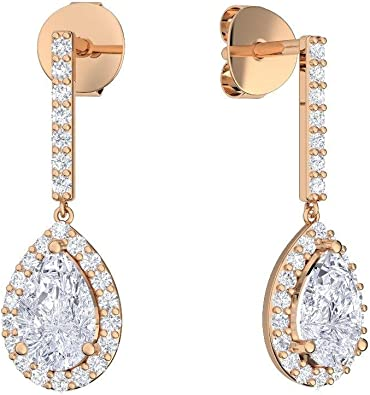Ohrringe Tropfenform hängend Rosegold (Silber 925 hochwertig