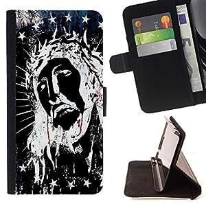 Skull Market - FOR Samsung Galaxy Note 4 IV - think of herin your heart - Caja de la carpeta del tirš®n del cuero de la PU [con ranuras para tarjetas y cierre de solapa magnšŠtica] Pš¢rese cubierta de la caja