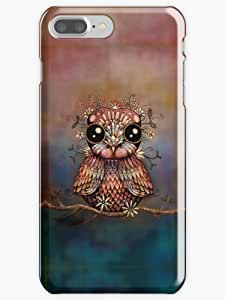 little rainbow flower owl Phone Case for Apple Iphone 7 Plus