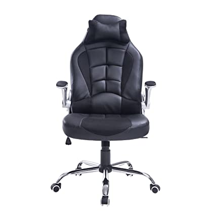 amazon com homcom racing style executive gaming office chair