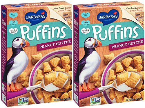Barbaras Bakery Peanut Butter Puffins Cereal, 2 ()