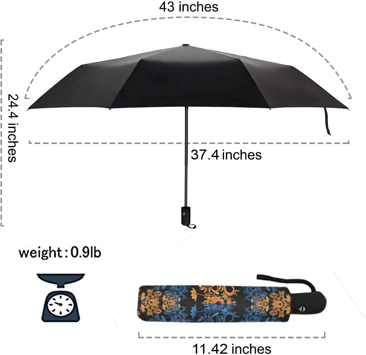 Upside Down Umbrellas with C-Shaped Handle for Women and Men Double Layer Inside Out Folding Umbrella Reverse Inverted Windproof Cute Friends Mexican White Alpaca Llamas Umbrella