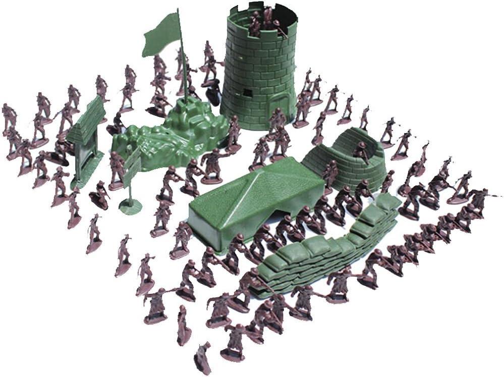 100pcs Juguetes Juegos Niños Militares Combate Ejército Soldado Establece 3cm: Amazon.es: Juguetes y juegos