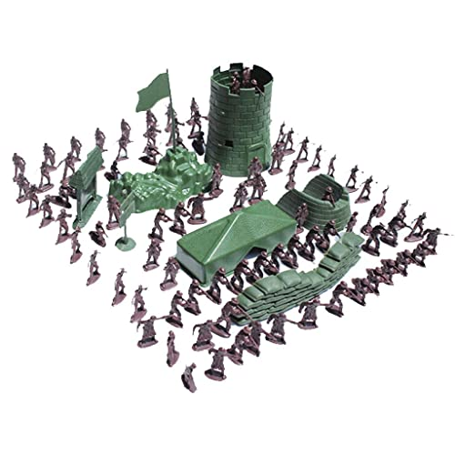 MagiDeal Army Combat Game Toys Soldier Set 3cm Set of 100