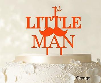 Quot1st Little ManquotBirthday Cake Topper Elegant Moustache Decorationquot