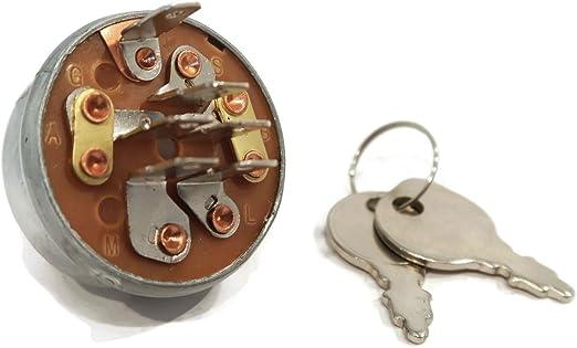 IGNITION SWITCH w// 2 Keys Troy-Bilt 725-3163 725-3163A 725-3163P 925-3163 Mowers
