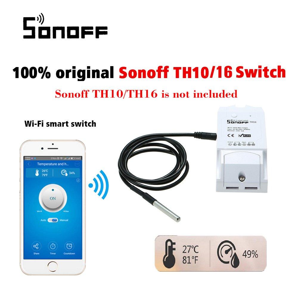 SONOFF Capteur de Temp/érature DS18B20 Imperm/éable Domotique