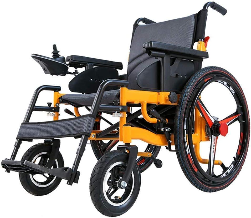 XGLL Sillas de Ruedas eléctrica Ligera Plegable para Mayores discapacitados, batería de Litio de 20A 24V, Motor Dual de 250W, Modo Manual/eléctrico conmutable