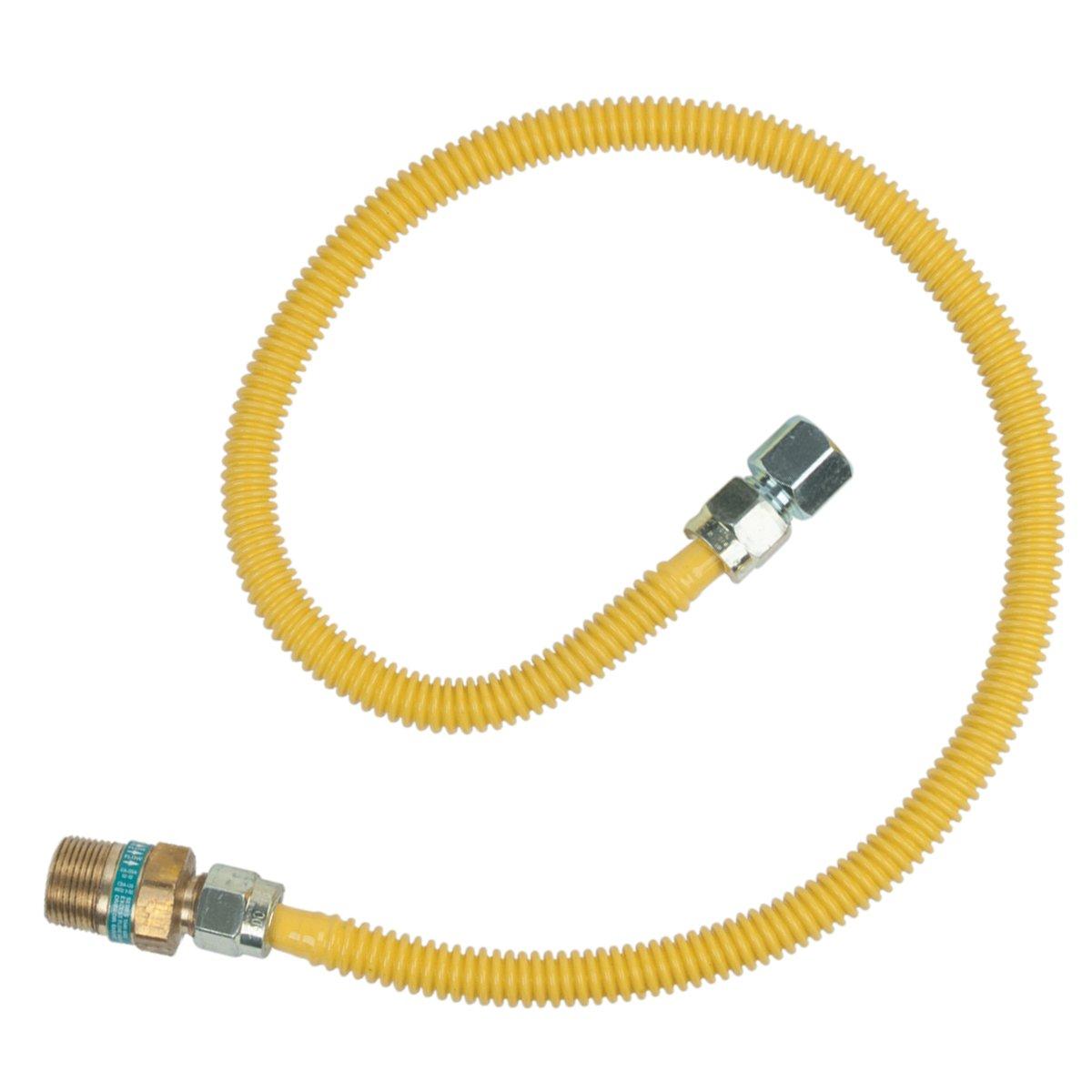 BrassCraft CSSD105R-36 P Safety PLUS Gas 1/2'' OD Connector with 1/2'' Female Flare EFV x 1/2'' FIP x 36''