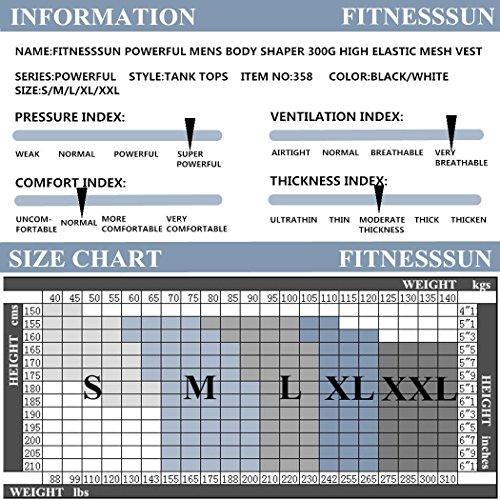 d0c377049e Amazon.com   FitnessSun - Mens Tights Undershirt - Compression Base Layer - Body  Shaper Sports Muscle Tank Top - Abs Abdomen Slim   Sports   Outdoors