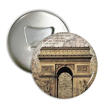 Arco de Triumphal mejor París redondo abridor de botellas nevera ...