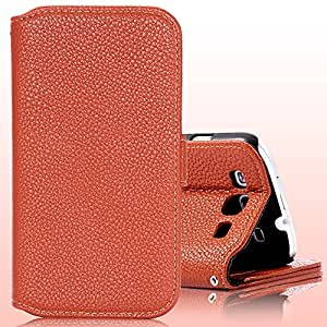 Korean Crazy Horse Leather Magnetic Chip Flip Case For Samsung Galaxy S3 III i9300 Phone Bag Cover Retail High Quality HLC0063 --- Color:Purple