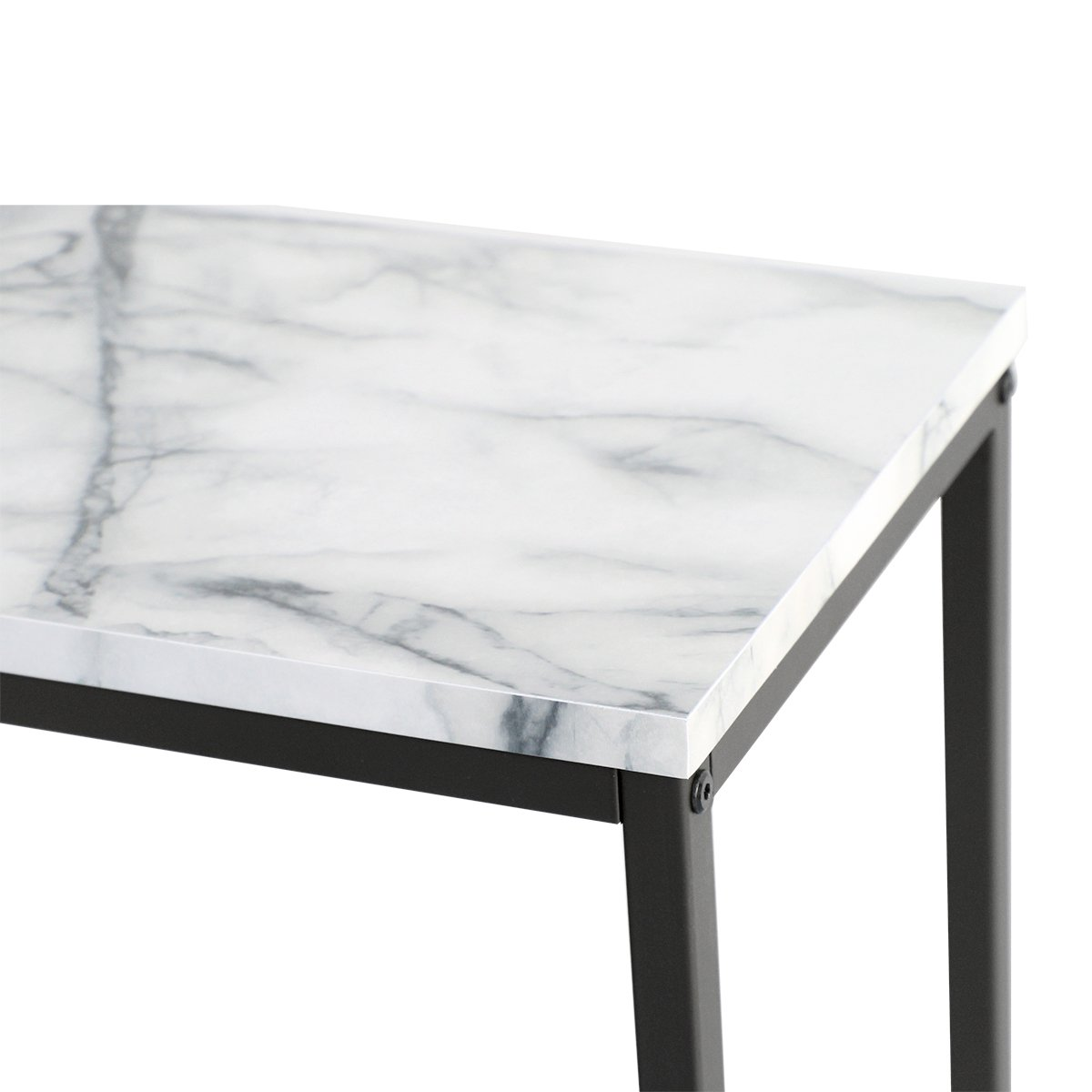 Delightful Tilly Lin Modern Accent Faux Marble Console Table, Black Metal Frame, For  Hallway Entryway Living Room, Entrance Hall Furniture, Carrara