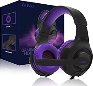 PS4 Gaming Headset, Anivia AH68 Wired PC Gaming Headset Stereo Sound Headphone with Mic for New Xbox One/Mac