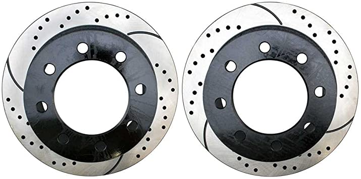 Front and Rear Set Premium Performance Drilled /& Slotted Disc Brake Rotors