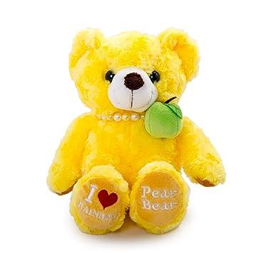 Juguete de peluche de Vobell amarillo Animal pera oso de peluche de 19 pulgadas
