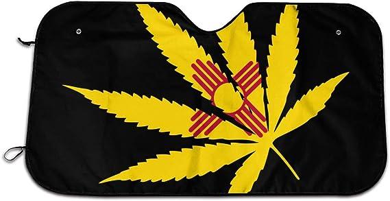 Marijuana Weed New Mexico Flag Car Sun Shade Windshield Sun Shade Sunshade Universal for Cars SUV Truck