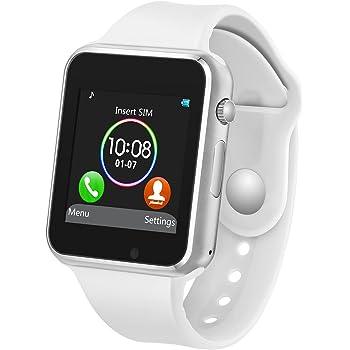 Amazon.com: CHEREEKI Smart Watch with Camera Supports SIM/TF ...