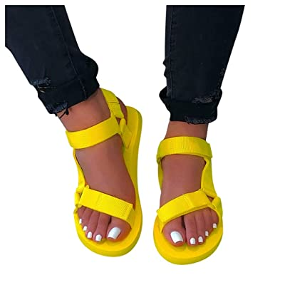 Platform Sandals for Women, Ulanda Women\'s Casual Fashion Ankle Strap Open Toe Strappy Sandals Summer Beach Shoes: Clothing [5Bkhe0300503]