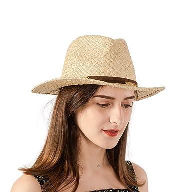 NAMANANA Raffia Straw Woven Panama Hats Unisex Scala Fedora Handmade ... 12a9097259a