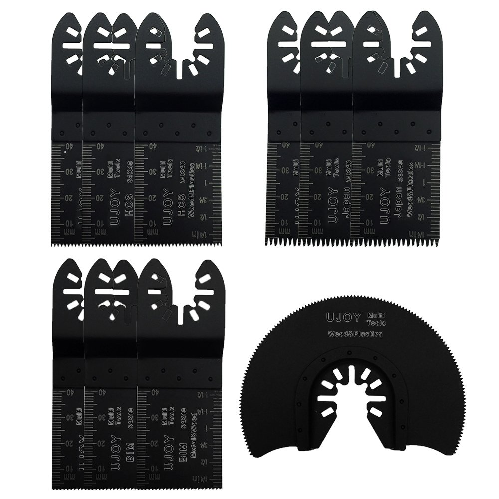 10 Pcs Mixed Universal Blade,Oscillating Multitool Quick Release Saw Blades forMetal/wood/plastic,Compatible with Most of Oscillating Tool