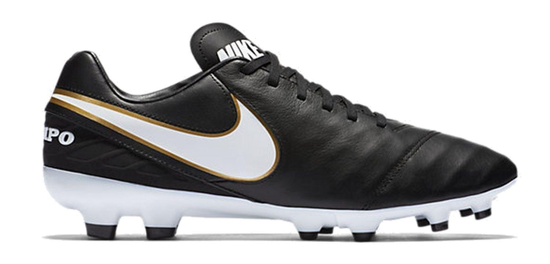 Nike Tiempo Genio Ii Leder Ic - schwarz Weiß-metallic gold, Größe   13