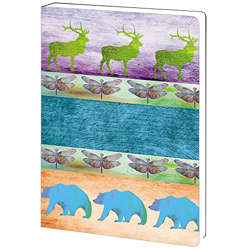 Tree-Free Greetings, Soft Cover Journal Notebook, 160 Lined Pages, 5.5 x 7.5 x 0.75 Inches, Color Block Elk  (JR89668)