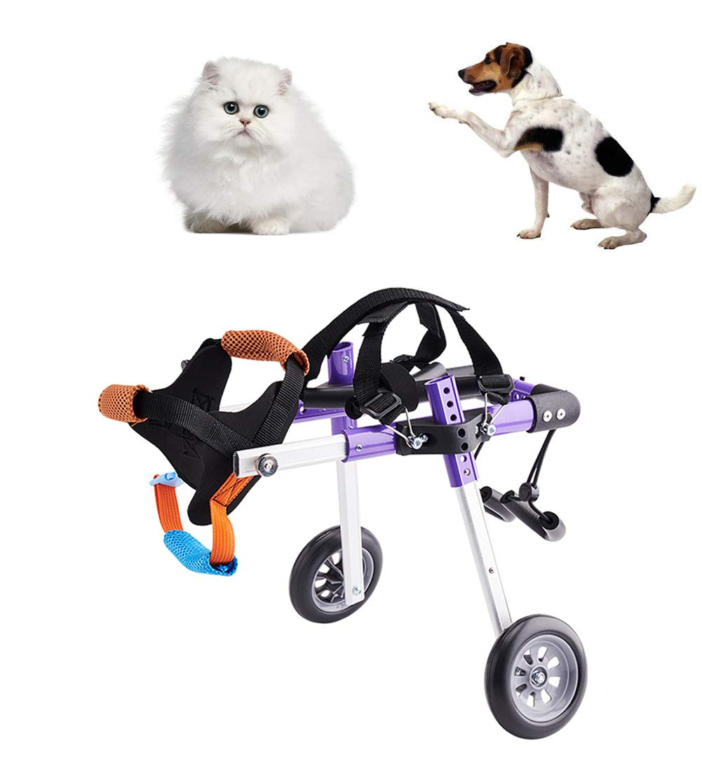 CoraStudio Wheelchair to Help Pet with Weak Hind Leg, Disabled Leg and Rehabilitation, Suitable Front Rear Crus Thigh Hip Injury Arthritis, Adjustable Car for Handicapped Dog Cat,XS by CoraStudio