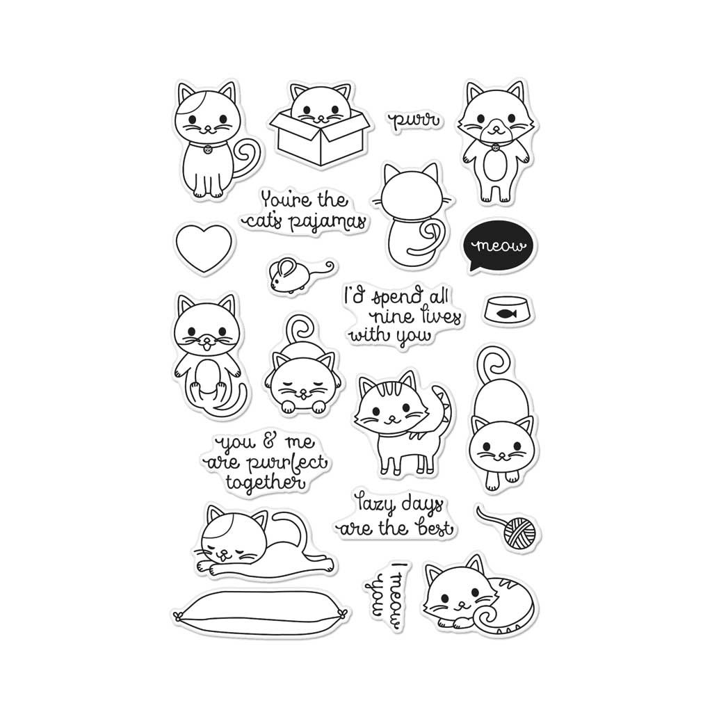 Hero Arts CM131 Purr Photopolymer Stamps